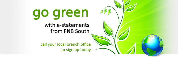 Go green with e-statements. Click to learn more...